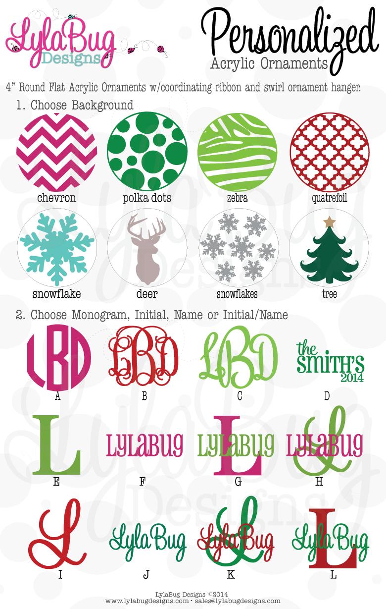 Custom Personalized Acrylic Christmas Ornaments