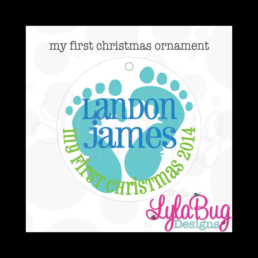 baby boy my first christmas ornament - Baby Boy First Christmas Ornament