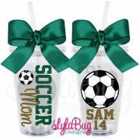 Soccer Mom Personalized Acrylic Tumbler
