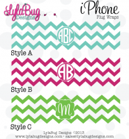Chevron Monogram iPhone Plug Wrap