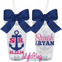 Anchor Wedding Tumbler