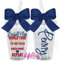 Baseball Mom World Tour Personalized Tumbler