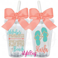 Stays at the Beach Bachelorette Tumbler