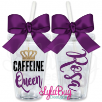 Caffeine Queen Personalized Tumbler