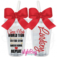Cheer Mom World Tour Personalized Tumbler