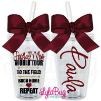 Football Mom World Tour Personalized Tumbler