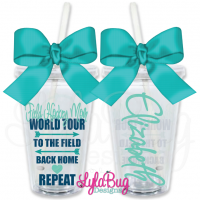 Field Hockey Mom World Tour Personalized Tumbler