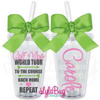 Golf Mom World Tour Personalized Tumbler