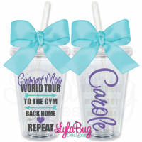 Gymnast Mom World Tour Personalized Tumbler