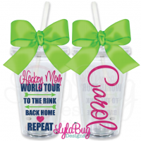 Hockey Mom World Tour Personalized Tumbler