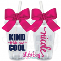 Kind is the New Cool Personalized Tumbler