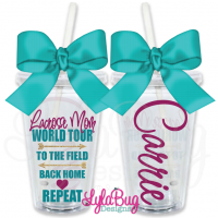 Lacrosse Mom World Tour Personalized Tumbler
