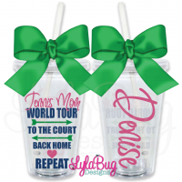 Tennis Mom World Tour Personalized Tumbler