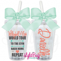 Volleyball Mom World Tour Personalized Tumbler