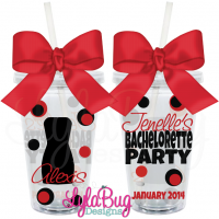 Little Black Dress Bachelorette Tumbler