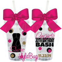 Little Black Dress Birthday Tumbler