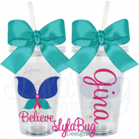 Butterfly Believe Thyroid Tumbler