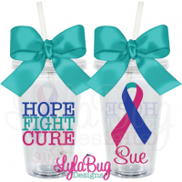 Hope Fight Cure Thyroid Tumbler