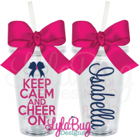 Keep Calm Cheer On Tumbler
