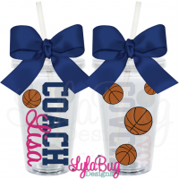 Female Basketball Coach Tumbler