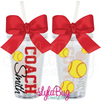 Softball Coach Tumbler