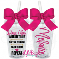 Dance Mom World Tour Personalized Tumbler