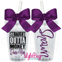Straight Outta Money Dance Mom Personalized Tumbler