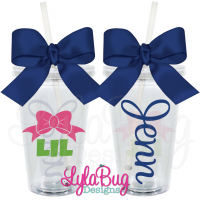 Lil Sister Bow Tumbler