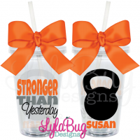 Stronger Than Yesterday Kettlebell Tumbler