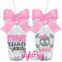 Stronger Than Yesterday Skull Tumbler
