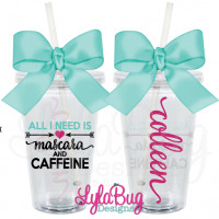 Mascara and Caffeine Tumbler