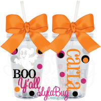 BOO Y'all Acrylic Tumbler