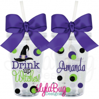 Drink Up Witches Acrylic Tumbler