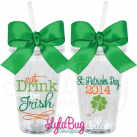 Eat, Drink, & Be Irish Tumbler