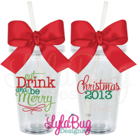 Eat, Drink, & Be Merry Tumbler