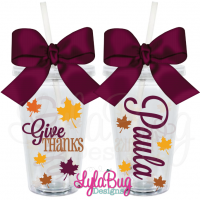 Give Thanks Acrylic Tumbler