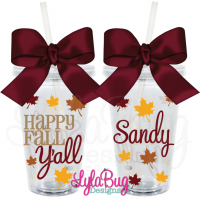 Happy Fall Y'all Acrylic Tumbler