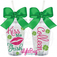 Kiss Me I'm Irish Tumbler