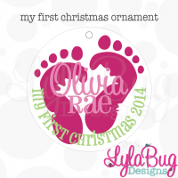 Baby Girl My First Christmas Ornament