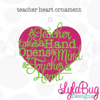 Teacher Touches a Heart Ornament