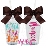 Thankful Heart Acrylic Tumbler