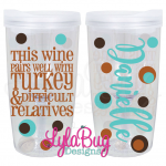 Wine Difficult Relatives Vino2Go Tumbler