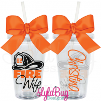 Fire Wife Helmet Tumbler
