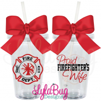 Proud Firefighter's... Tumbler