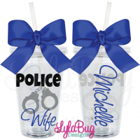 Police Wife Handcuffs Tumbler
