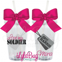 Love My Soldier Tumbler
