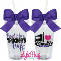 Proud To Be A Trucker's Wife Tumbler