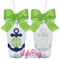 Circle Monogram Anchor Tumbler
