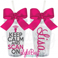 Keep Calm and Scan On Acrylic Tumbler