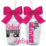 School Nurse Rock  Tumbler